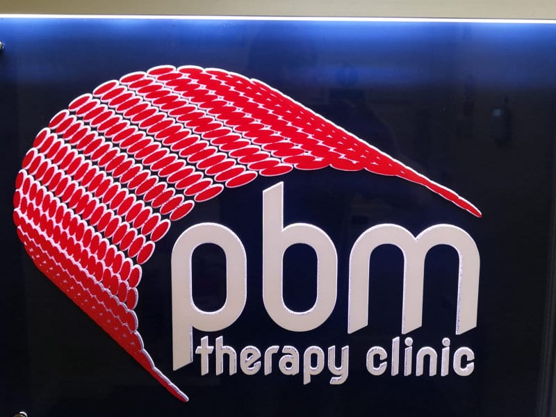 PBM Therapy Clinic Internal Led Sign